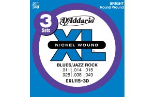 DAddario EXL115 - XL Blues/Jazz Rock [11-49]